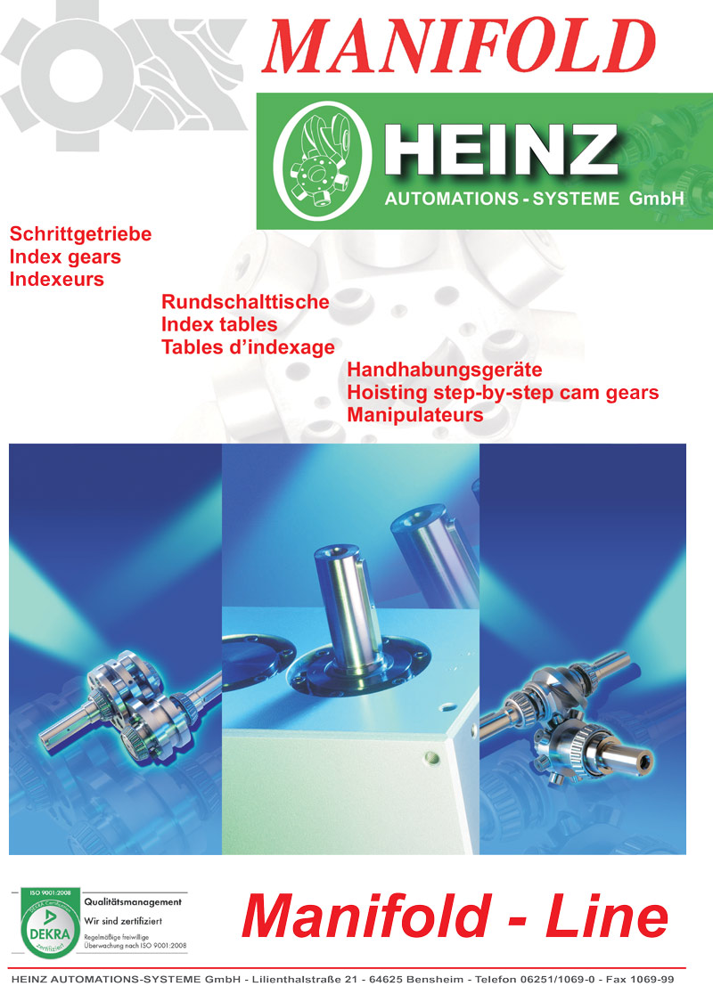 Manifold Heinz catalogue